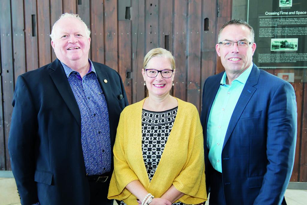 Neil Aitchison, Lisa Taylor and Tim Beckett
