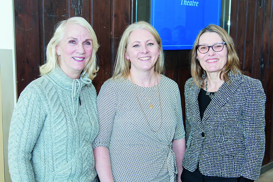 Kelly-Sue Oberle, Michelle Luelo and Rosemary Hentges